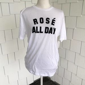 "Kid Dangerous ""Rosé All Day"" Graphic T-shirt Sz M"